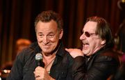 Springsteen plays with Willie Nile, Southside Johnny and Joe Grushecky at the 2015 Light of Day Concert in Asbury Park.