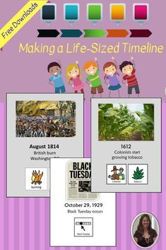 Making a Life-Sized Timeline - Special Needs for Special Kids 6th Grade Special Education, Kindergarten Special Education, Special Education Activities, Social Studies Activities, Teaching Social Studies, Teaching Tips, Cultura General, Special Kids, Free Math