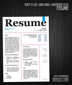 20 awesome designer resume templates for free download