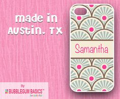 Items similar to Custom Phone Case iPhone 6 Samsung Galaxy - Gray Damask Pink Circle - Monogrammed Personalized on Etsy Iphone 4, Iphone Cases, Mobile Phone Cases, Samsung Galaxy S5, Bubble Gum, Monogram, Handmade Gifts, Damask, How To Make