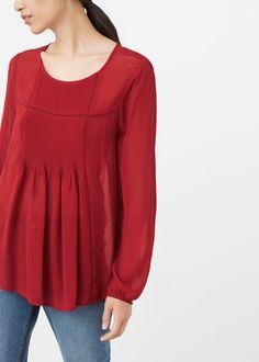Bluzka z plisowaną wstawką - Koszule dla Kobieta | OUTLET Polska