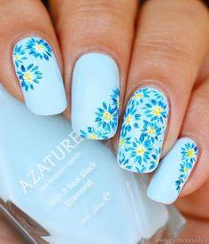 50 Flower Nail Art Designs | Art and Design