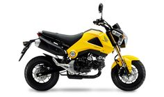 """Apparently the 10hp 102Kg Honda MSX125 is marketed as the """"Grom"""" in the US and Japan.   Looks fun, $3k.  I want to get 2 and go riding somewhere with my son ^^"""