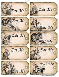 Drink me alice in wonderland printable gift hang by katarinaart templates for alice in wonderland alice in wonderland printable gift hang tag whimsical eat pronofoot35fo Images