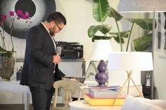 Jay Britto browsing the Renovation Room showroom