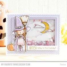 Handmade card from Torico featuring Birdie Brown Witch Way Is the Candy? #mftstamps