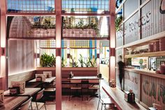 Love everything about this space: Paco's Tacos,Courtesy of Technē Architecture + Interior Design