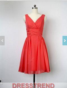 Short Red Bridesmaid Dress  Short Bridesmaid Dresses by DressTrend, $99.99