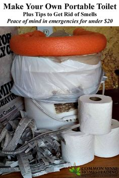 How to Build a simple DIY Portable Toilet AKA Emergency Relief System (ERS), plus tips to get rid of the smell. Peace of mind in emergencies for under $20.