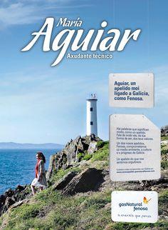 Un apellido muy ligado a Galicia Nuestra primera campaña para Gas Natural Fenosa recupera el vínculo emocional que el apellido Fenosa ha tenido siempre con Galicia a través de nombres y apellidos de sus trabajadores.  CLIENTE: GAS NATURAL FENOSA