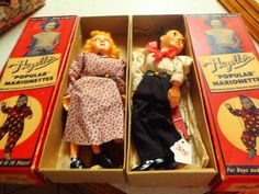 "Hazelle's ""Popular"" Marionettes Dagwood and Blondie All Original RARE Find | eBay"