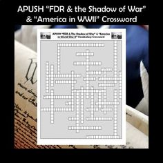 "AP U.S. History ""FDR and the Shadow of War"" & ""America in World War II"" CrosswordThis crossword puzzle features 35 people, events, and terms from Chapters 33 & 34 of the very popular American Pageant textbook. Although the terms came specifically from this book (16th edition), the crossword ... Social Studies Activities, Learning Activities, Teaching Resources, Ap Test, Test Prep, School Levels, School Grades, High School Classroom, Cooperative Learning"