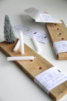 DIY Idee: moderner Adventskranz aus Holz im skandinavischen Stil / diy idea: modern advent wreath scandinavian style made from wood