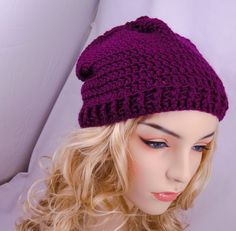 Slouchy Beanie Ponytail Hat Convertible Cowl by GoddessCrochet