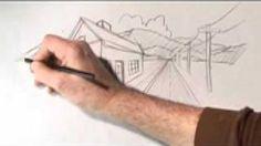Perspectief tekenen , I-phone, DIY, 2 punts perspectief, lesje - YouTube