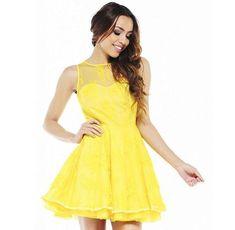 vestido amarillo para quinceañera Moda Zara, Online Thrift Store, Girls Dresses, Summer Dresses, Summer Outfit, Shorts, Yellow Dress, Skater Dress, Flare Dress
