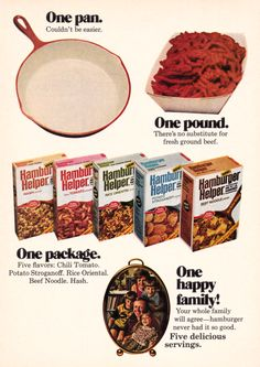 1972 Advertisement for Hamburger Helper