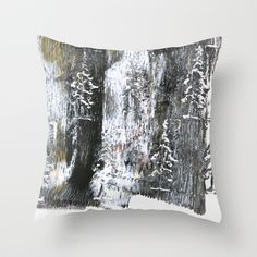 Winter Throw Pillow by PatternPrincess - $20.00