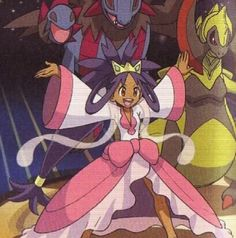 Champion Iris and Haxorus Pokemon Stuff, Cool Pokemon, Iris Pokemon, Pokemon Waifu, Pokemon Ash And Serena, Pokemon Champions, Gym Leaders, Cute Games, Queen