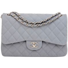 Pre-Owned Chanel Pastel Blue Quilted Caviar Leather Jumbo Classic Double Flap Shoulder Bag Chanel Shoulder Bag, Shoulder Strap Bag, Quilted Handbags, Blue Handbags, Vintage Handbags, Chanel Purse, Chanel Handbags, Caviar, Grand Luxe