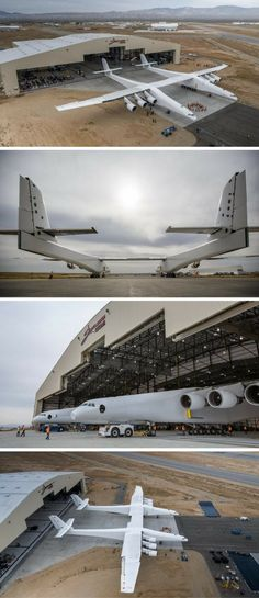 Stratolaunch—the world's largest airplane by wingspan—rolled out of its hangar in California's Mojave Desert for the first time ever on Wednesday.