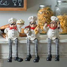 Italian Chef Shelf Sitter from Kirkland's Bistro Kitchen Decor, Fat Chef Kitchen Decor, Kitchen Decor Themes, Kitchen Art, Italian Kitchen Decor, Home Decor, Kitchen Gallery Wall, Refrigerator Covers, Italian Chef
