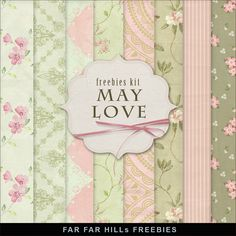 Far Far Hill - Free database of digital illustrations and papers: New Freebies Kit of Backgrounds - May Love