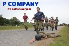 P Company. The selection process for those who wish to become members of the British Parachute Regiment. British Army Regiments, Ride Of The Valkyries, Parachute Regiment, Army Day, British Armed Forces, Military Quotes, Military Insignia, War Photography, Paratrooper