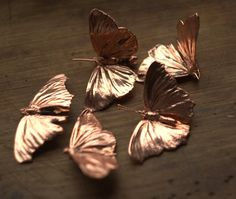Two-wing real butterflies covered with copper, copper dipped, electroformed butterflies, nature inspired, eco jewelry, butterfly pendant by Galvanart on Etsy https://www.etsy.com/listing/223609000/two-wing-real-butterflies-covered-with