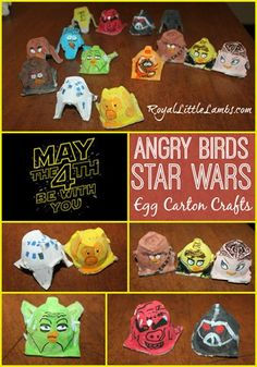 Star Wars Angry Birds Craft with egg cartons