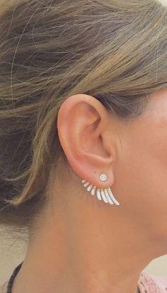 Minimalist Ear Cuff and Jackets Pink Gold by Irisjewelerystudio