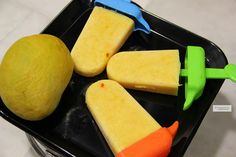 Mango coconut popsicles