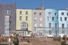 Townhouses; South Beach, Tenby, Pembrokeshire Coast Path, Wales, United Kingdom