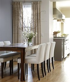Love this style of chair - I wouldn't choose white for a dining chair - I don't like to clean