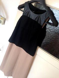 555€ jetzt nur noch 159€ Gio´Guerreri Abend Business Kleid IT46 40-42 L XL Schwarz-Beige Cocktailkleid