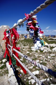 Prayer offerings at Medicine Wheel in Bighorn National Forest, Wyoming.
