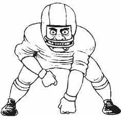 Sport Football Player Coloring Pages