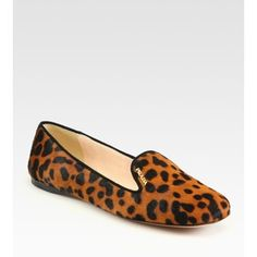 prada leopard smoking slipper - Google Search