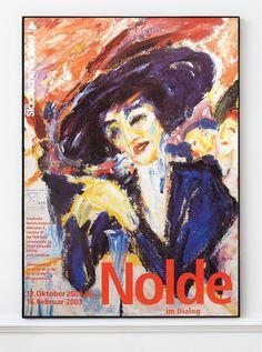 Emil Nolde - Original Artist Poster 2002 – Art & Vintage Store Ltd Vintage Prints, Vintage Posters, Emil Nolde, Original Vintage, Exhibition Poster, Fine Art Prints, Poster Prints, Museum, The Originals