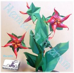 Origami Flowers, Flower Arrangements, Plants, Flowers, Floral Arrangements, Plant, Planets