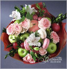 (80) Одноклассники Food Bouquet, Candy Bouquet, Fruit Centerpieces, Edible Arrangements, Edible Bouquets, Fruit Gifts, Sweet Box, Special Flowers, Chocolate Bouquet
