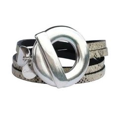 Bracelet cuir reptile Circle