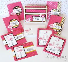 Lisa's Creative Corner: June Project Kit - Tickled Pink Boxed Card Set
