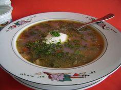 Ciorba de loboda - imagine 1 mare Romanian Food, Meals For One, Palak Paneer, Vegetable Recipes, Vegan Recipes, Vegan Meals, Guacamole, Stew, Vegetarian
