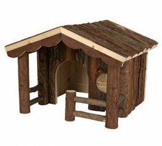 Natural Living Knut Guinea Pig – Degu – Rat House - 30x22x30cm