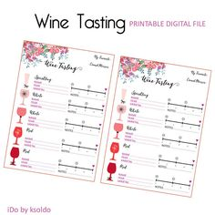 Wine Tasting - Instant Download Bridal Shower - Wine Party
