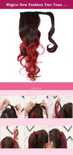Wigico New Fashion Two Tone 22'' Curly Highlights Ponytail Hair Extension Hairpiece Wig for Women (black to wine red)// Ombre Dip-dye Color Wrap Around Ponytail 50cm Length Black to wine red Wavy for Pretty Girls. About us (wigico), Professional factory of wig, welcome to our store for more choices with best price. What we pursue is your satisfication of our service, not just for our goods.For any reason you are unsatisfied with our product at any time, simply contact support for exchange…