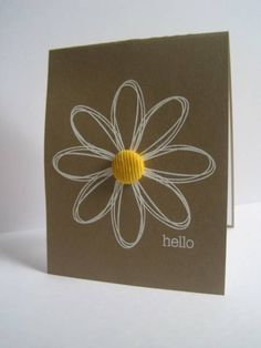 Single Daisy Hello by lisaadd - Cards and Paper Crafts at Splitcoaststampers