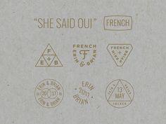 French Wedding Badges by Bob Ewing