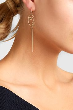 Post and clasp fastening for pierced ears NET-A-PORTER.COM is a certified member of the Responsible Jewellery Council